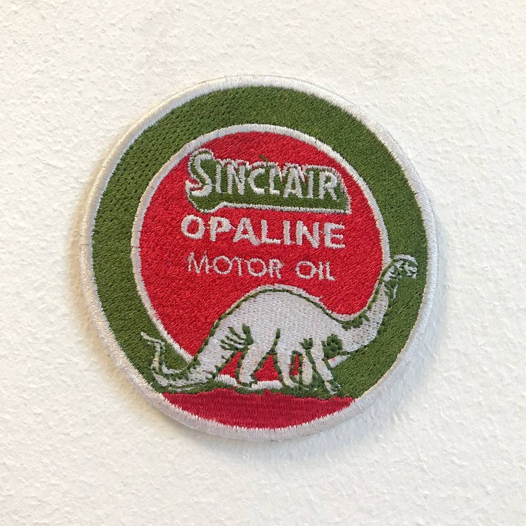 Sinclair Opaline Motor Oil Badge Iron on Sew on Embroidered Patch