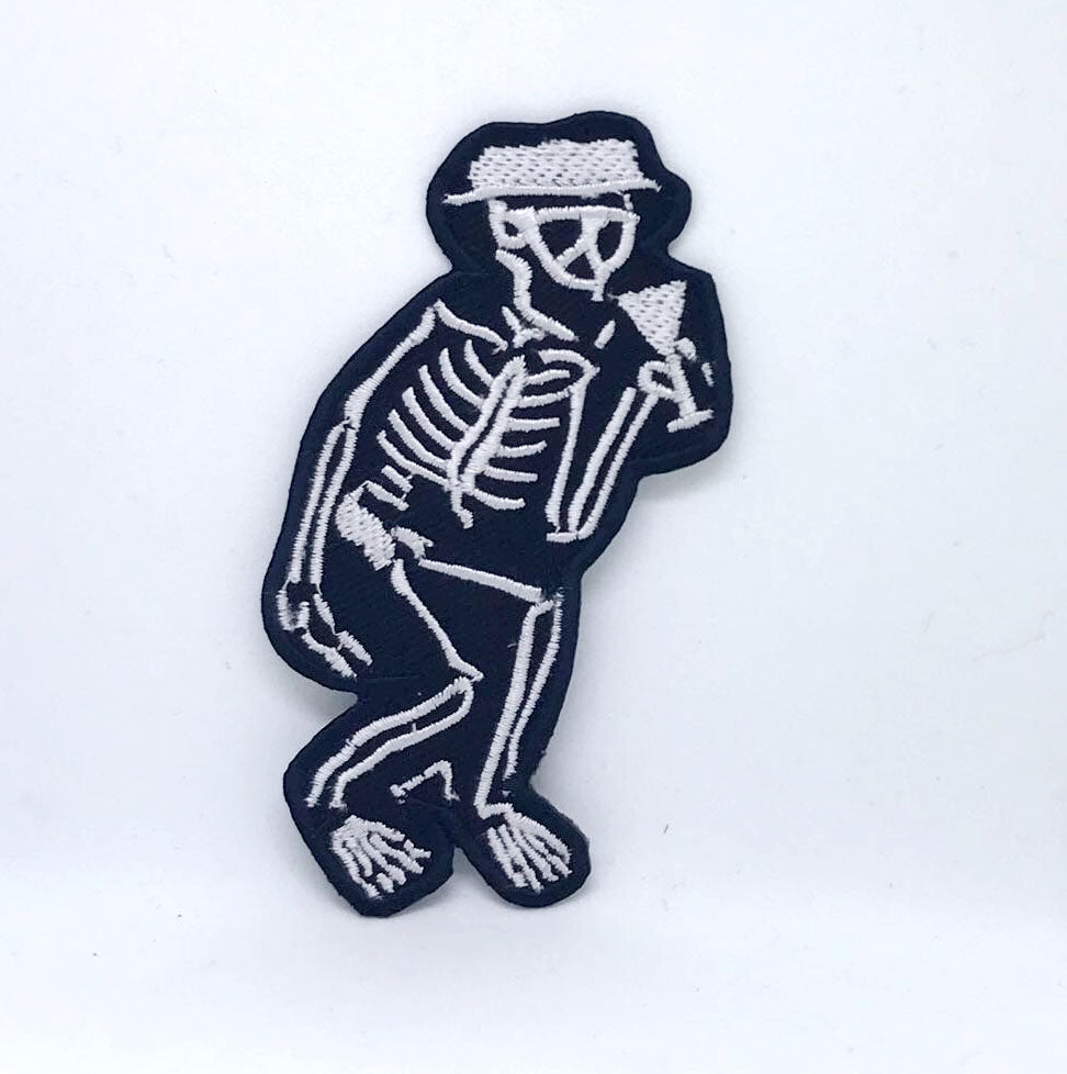 Social Distortion Skeleton Dancing Punk Rock Music Iron On Embroidered Patch