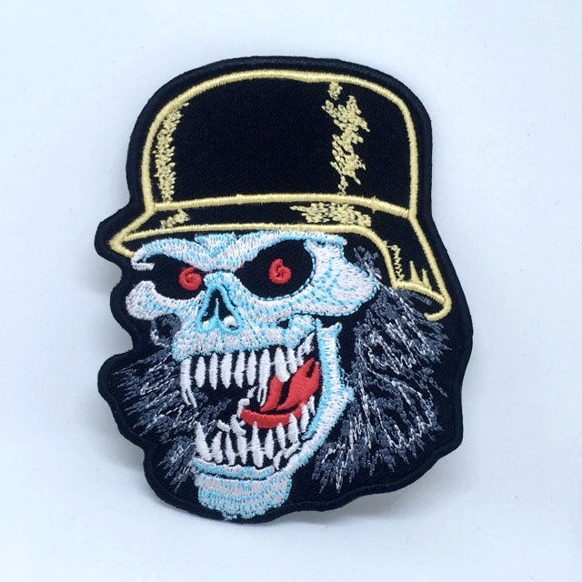 Slayer Skull outlaw MC Biker Iron on Sew on Embroidered Patch