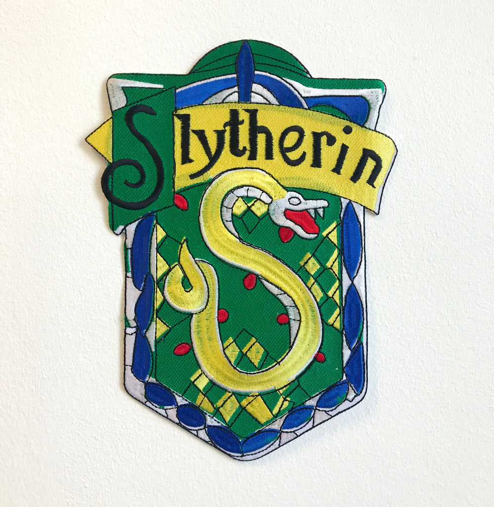 Slytherin Harry Potter Large Biker Jacket Back Sew On Embroidered Patch