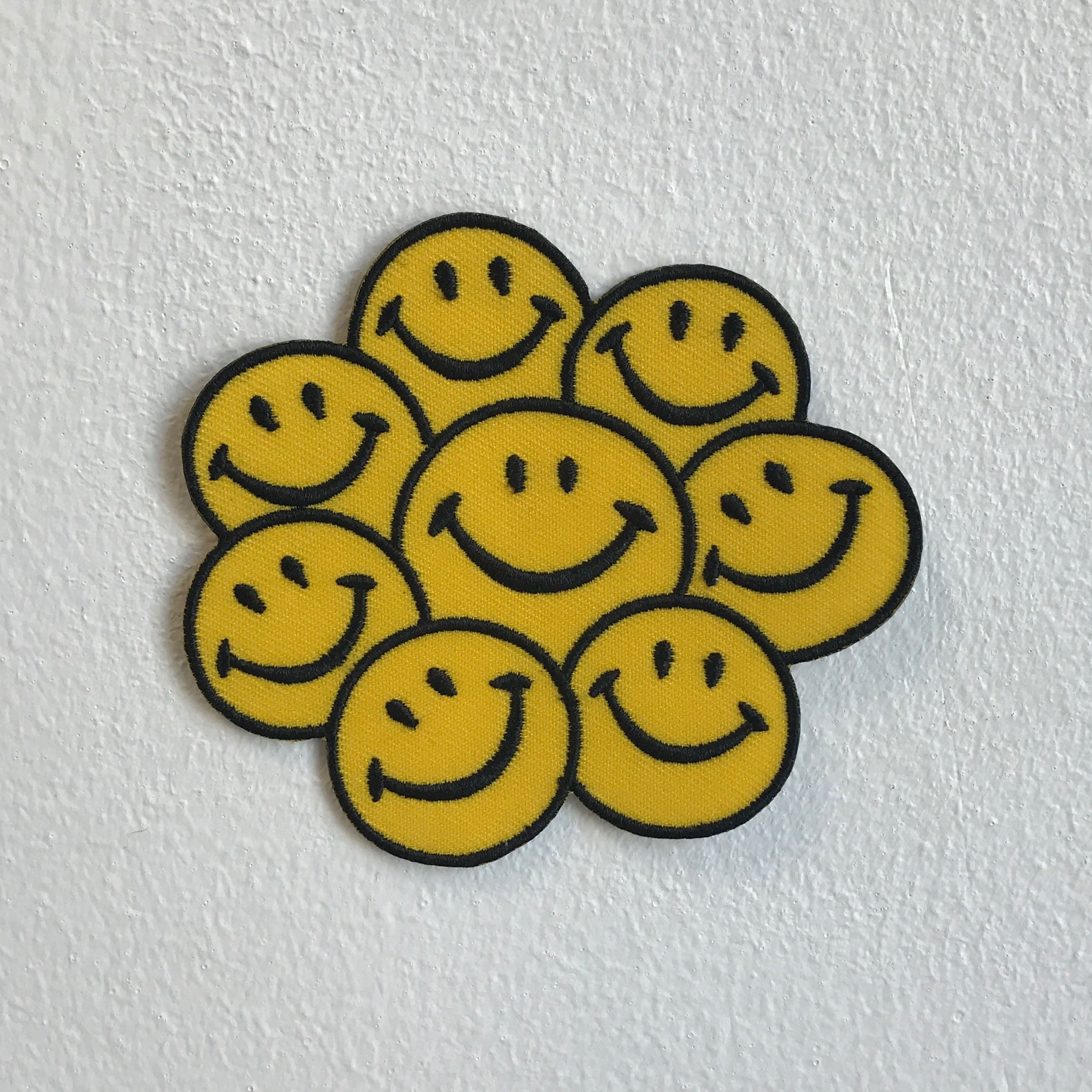Happy Face Smiley Rainbow Emoji Iron Sew on Embroidered Patch