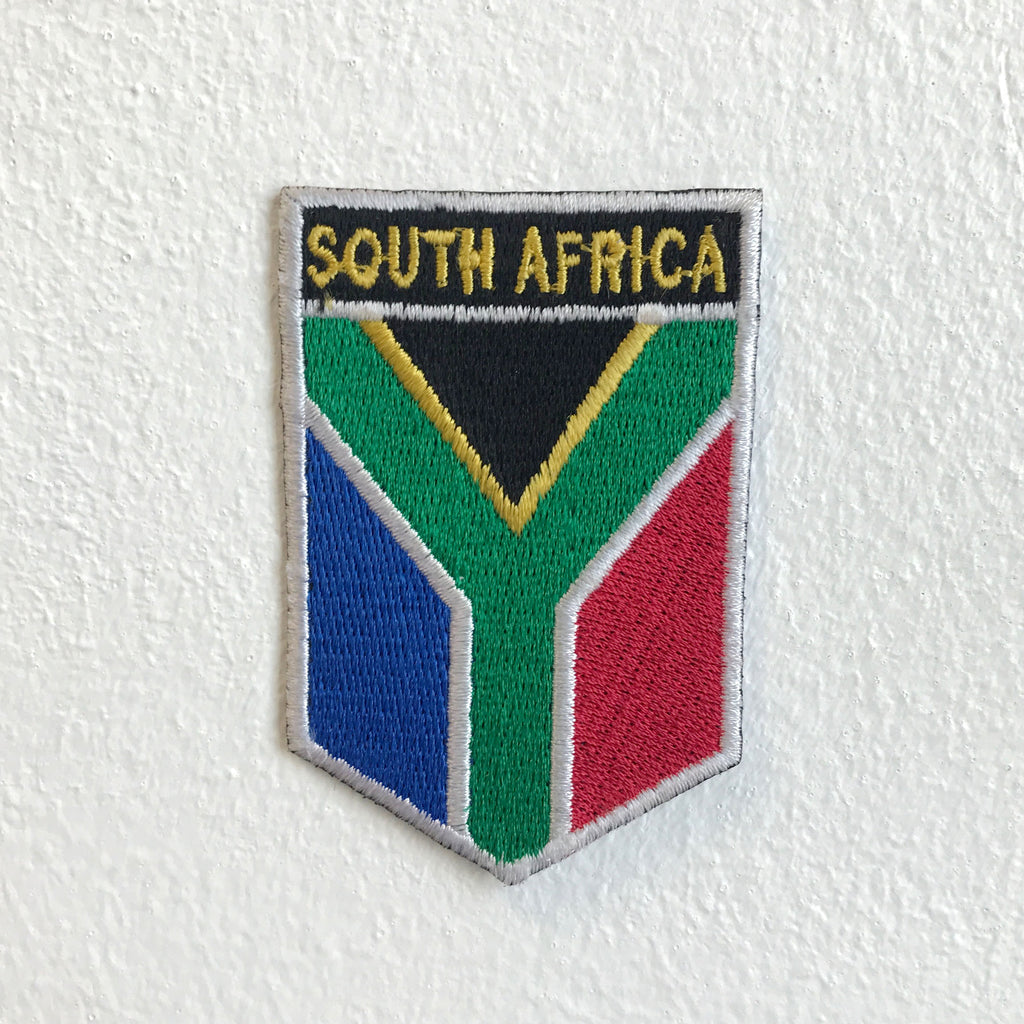 South Africa Flag Iron Sew on Embroidered Patch
