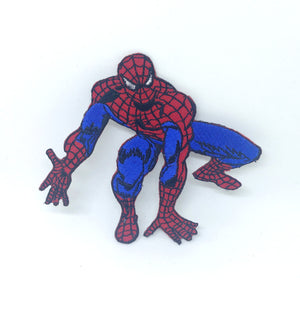 Spiderman ready to jump Marvel Iron On Embroidered Patch
