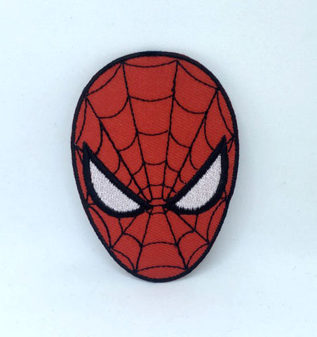 Spiderman Superhero face Marvel Iron on Sew on Embroidered Patch
