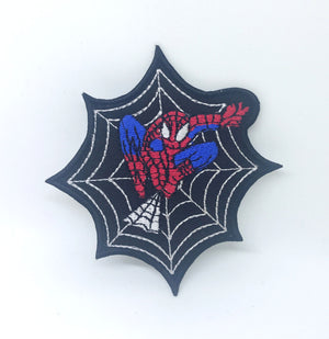 SPIDERMAN web jumping Iron On Embroidered Patch Marvel Badge
