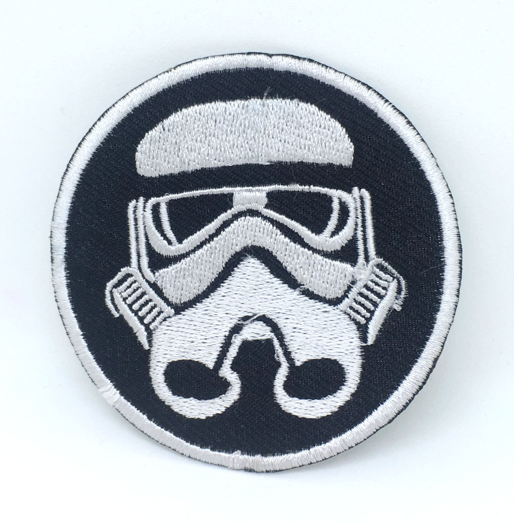 STAR WARS Movies Iron or Sew on Embroidered Patches - Imperial Storm Trooper WHITE BORDER