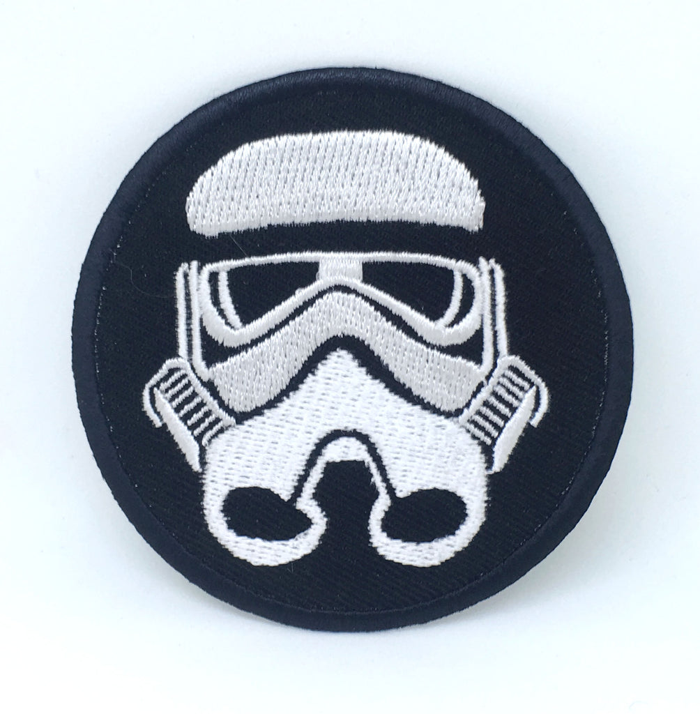STAR WARS Movies Iron or Sew on Embroidered Patches - Imperial Storm Trooper BLACK BORDER