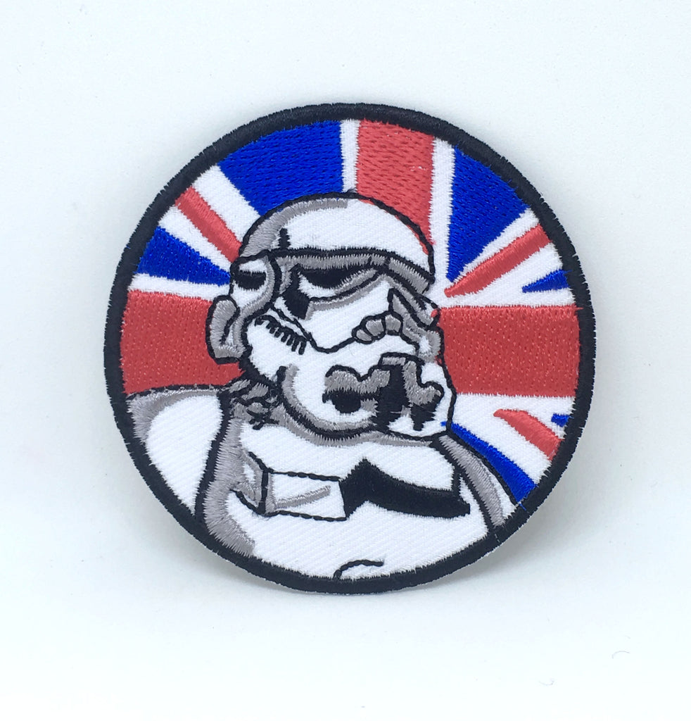 STAR WARS Movies Iron or Sew on Embroidered Patches - Imperial Storm Trooper with Union Jack