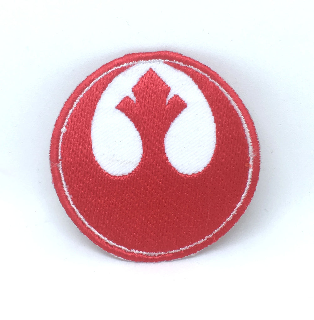 STAR WARS Movies Iron or Sew on Embroidered Patches - Rebel Alliance Red with White Background