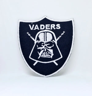 STAR WARS Movies Iron or Sew on Embroidered Patches - Vaders Black