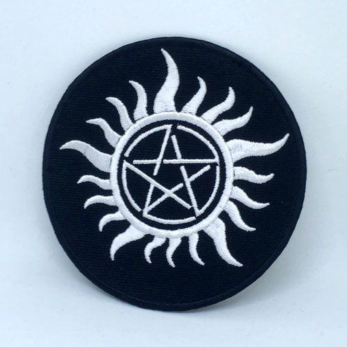Anti Possession Symbol Iron on Sew on Embroidered Patch