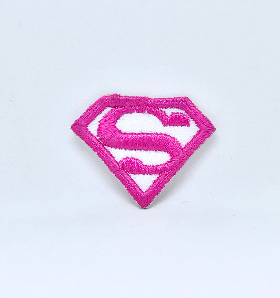 Comic Marvel Avengers and DC Comics Iron or Sew on Embroidered Patches - Superwoman Pink - Patches-Badges