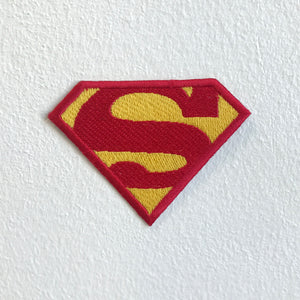 Superman S Badge cartoon movie Iron Sew on Embroidered Patch