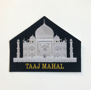 Taaj Mahal Large Biker Jacket Back Sew On Embroidered Patch
