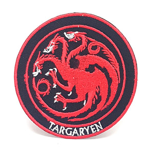 Game of Thrones Houses Collection Iron on Sew on Embroidered Patches - Targaryen