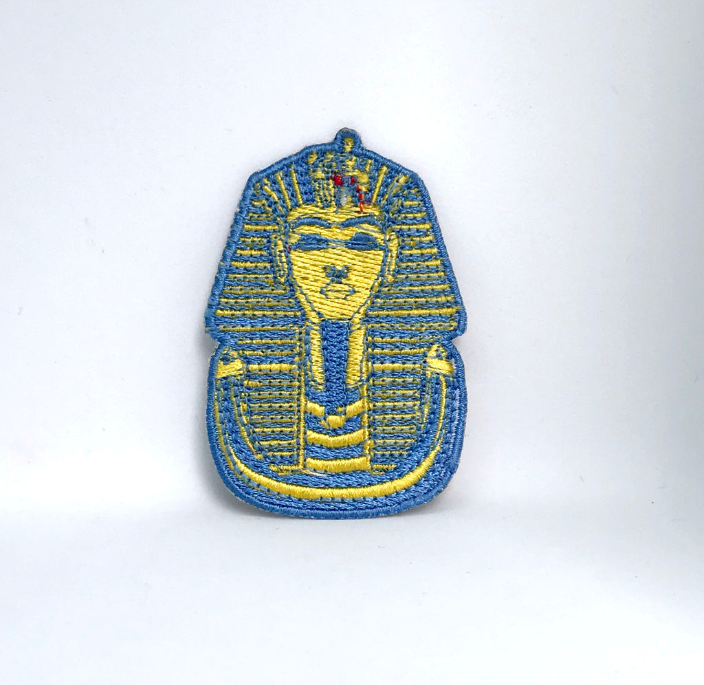 King Tut Tutankhamun Iron Sew on Embroidered Patch - Patches-Badges