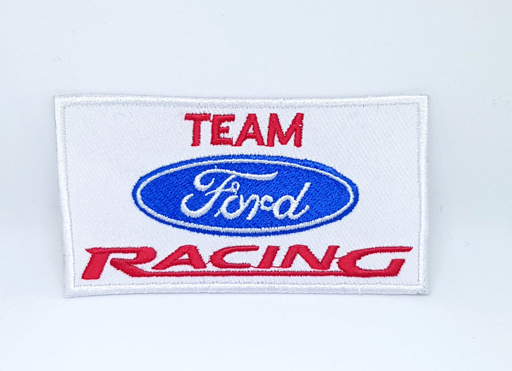Vintage Team Ford Racing Formula 1 Biker EMBROIDERED Iron Sew on Patch