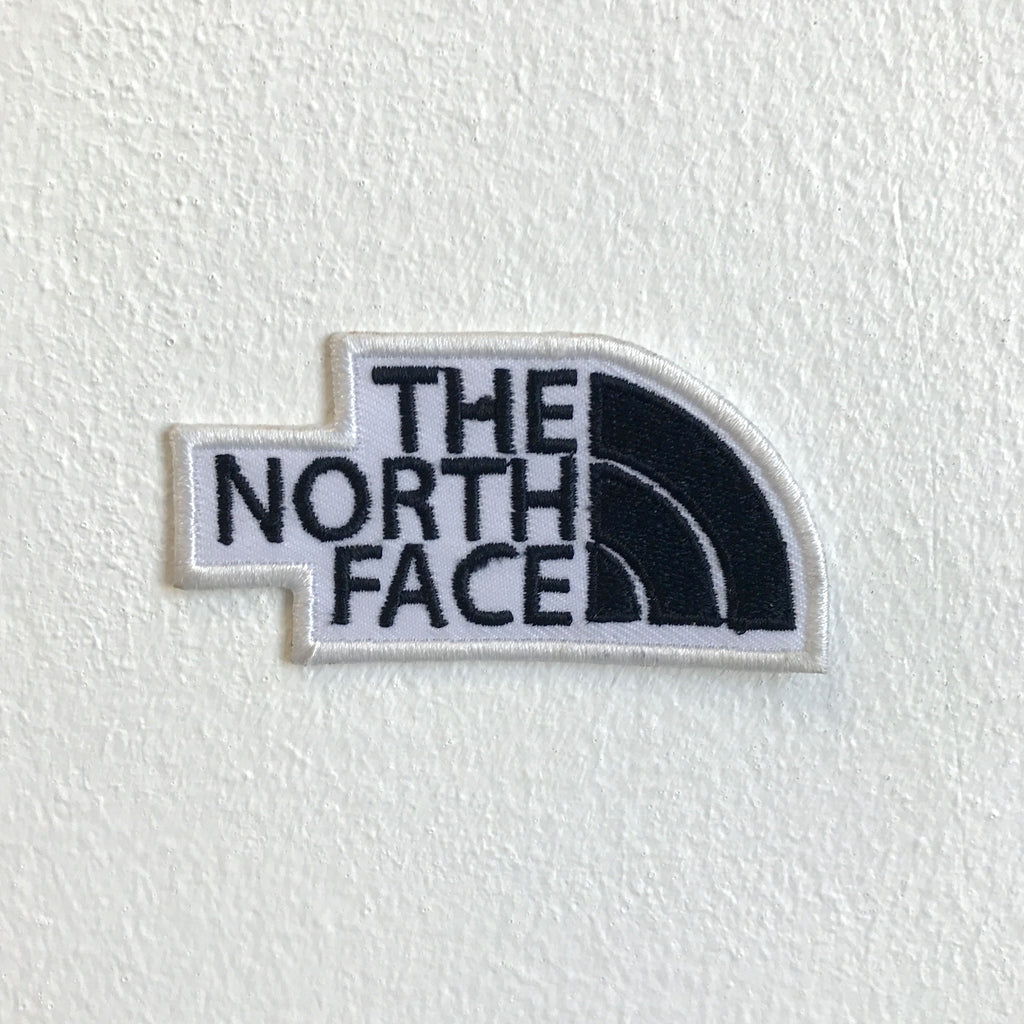 The North Face Sporting Clothes Brand Iron Sew on Embroidered Patch - White