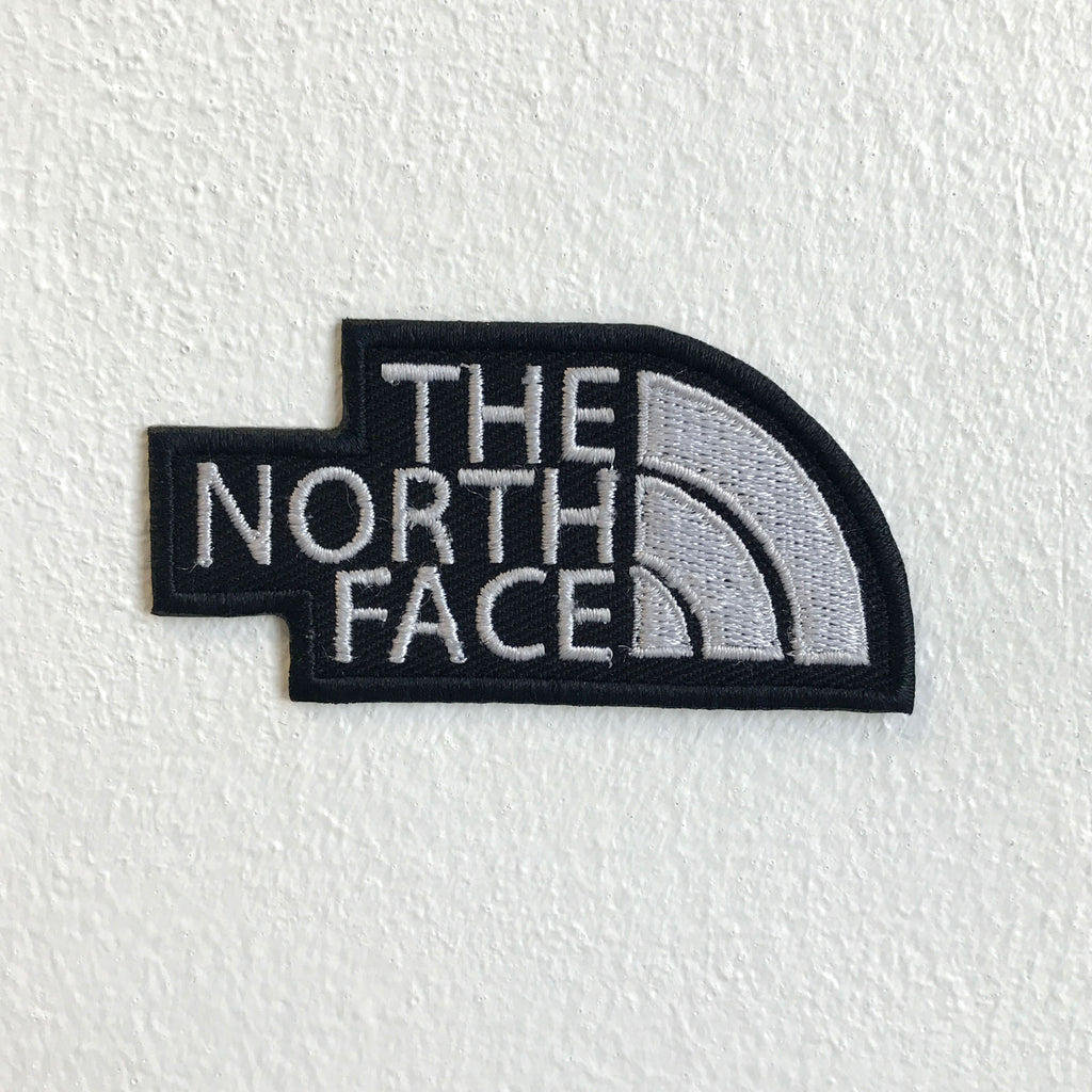 The North Face Sporting Clothes Brand Iron Sew on Embroidered Patch - Black