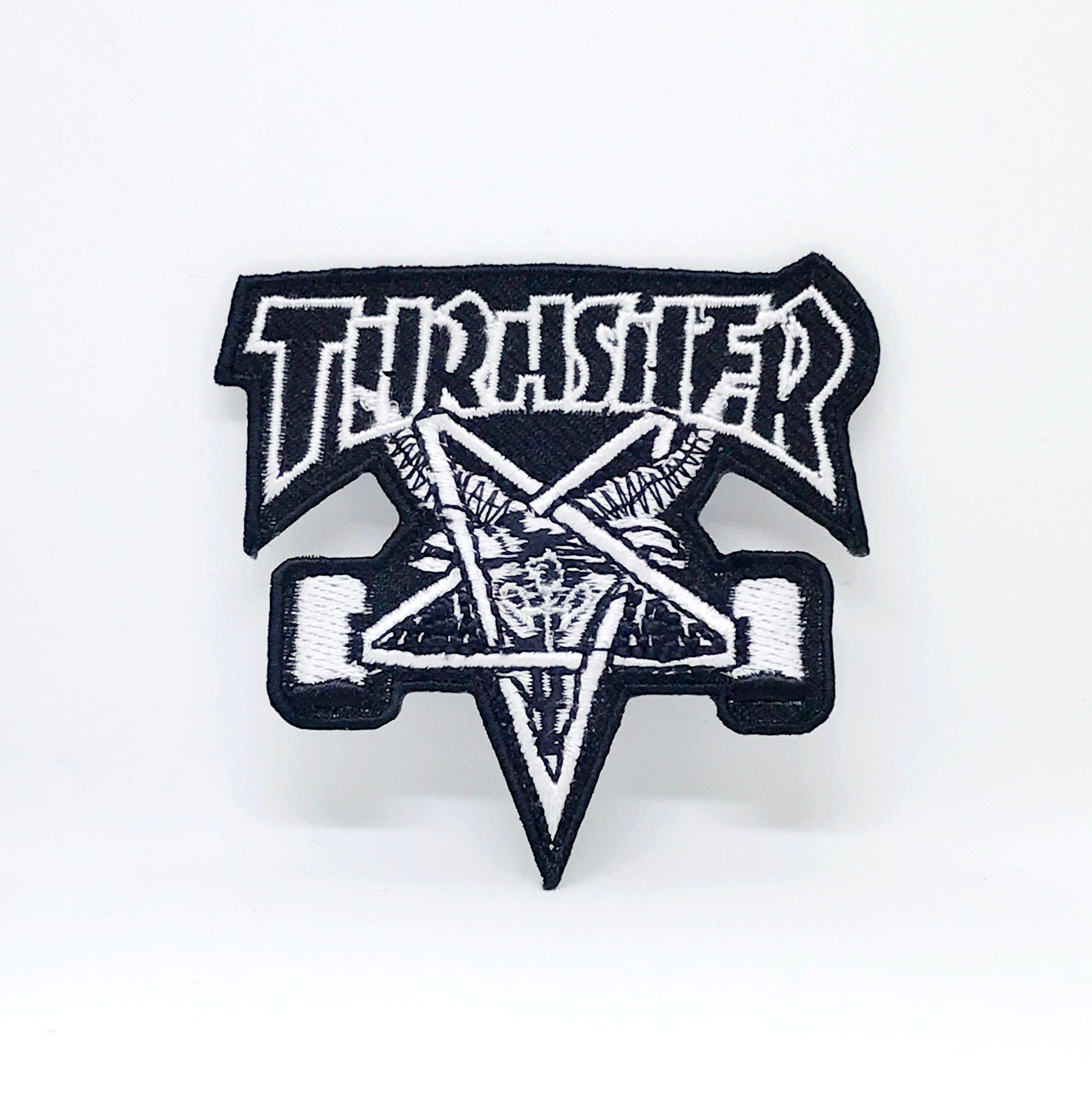 New Thrasher Iron Sew on EMBROIDERED PATCH