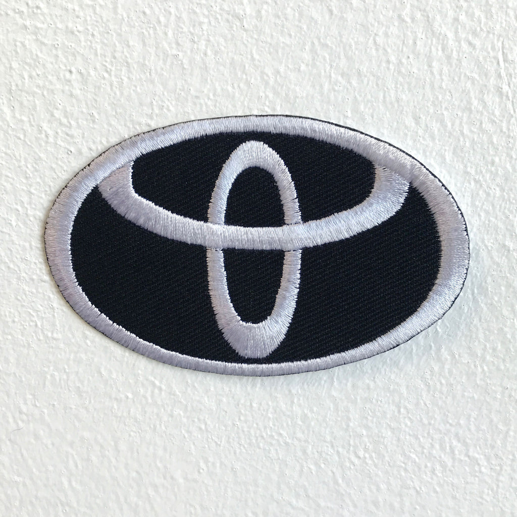 Toyota motorsports logo Black Iron Sew on Embroidered Patch
