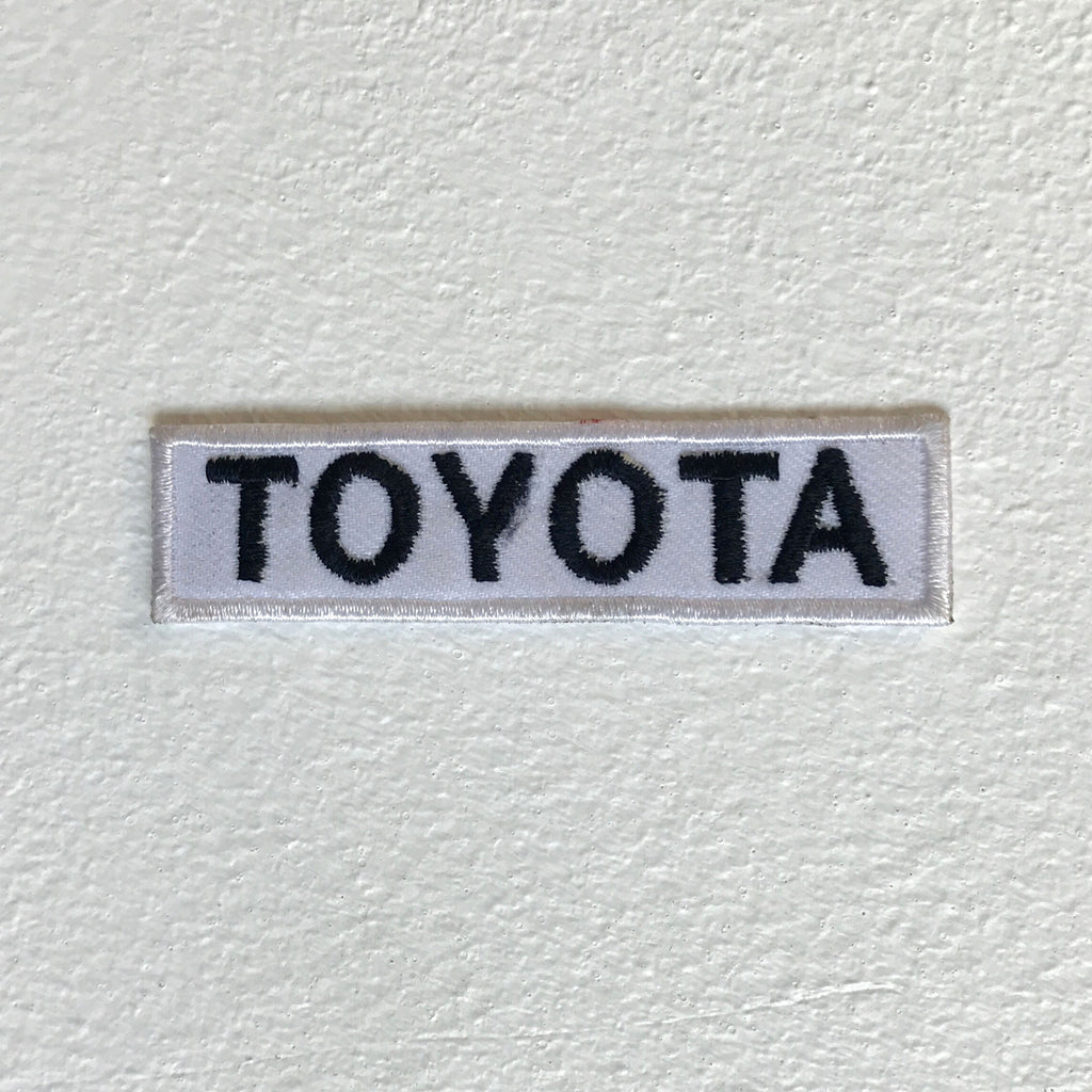 Toyota motorsports brand Letter Iron Sew on Embroidered Patch
