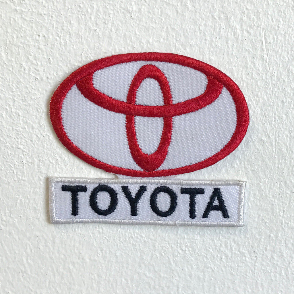 Toyota motorsports logo with letter Iron Sew on Embroidered Patch