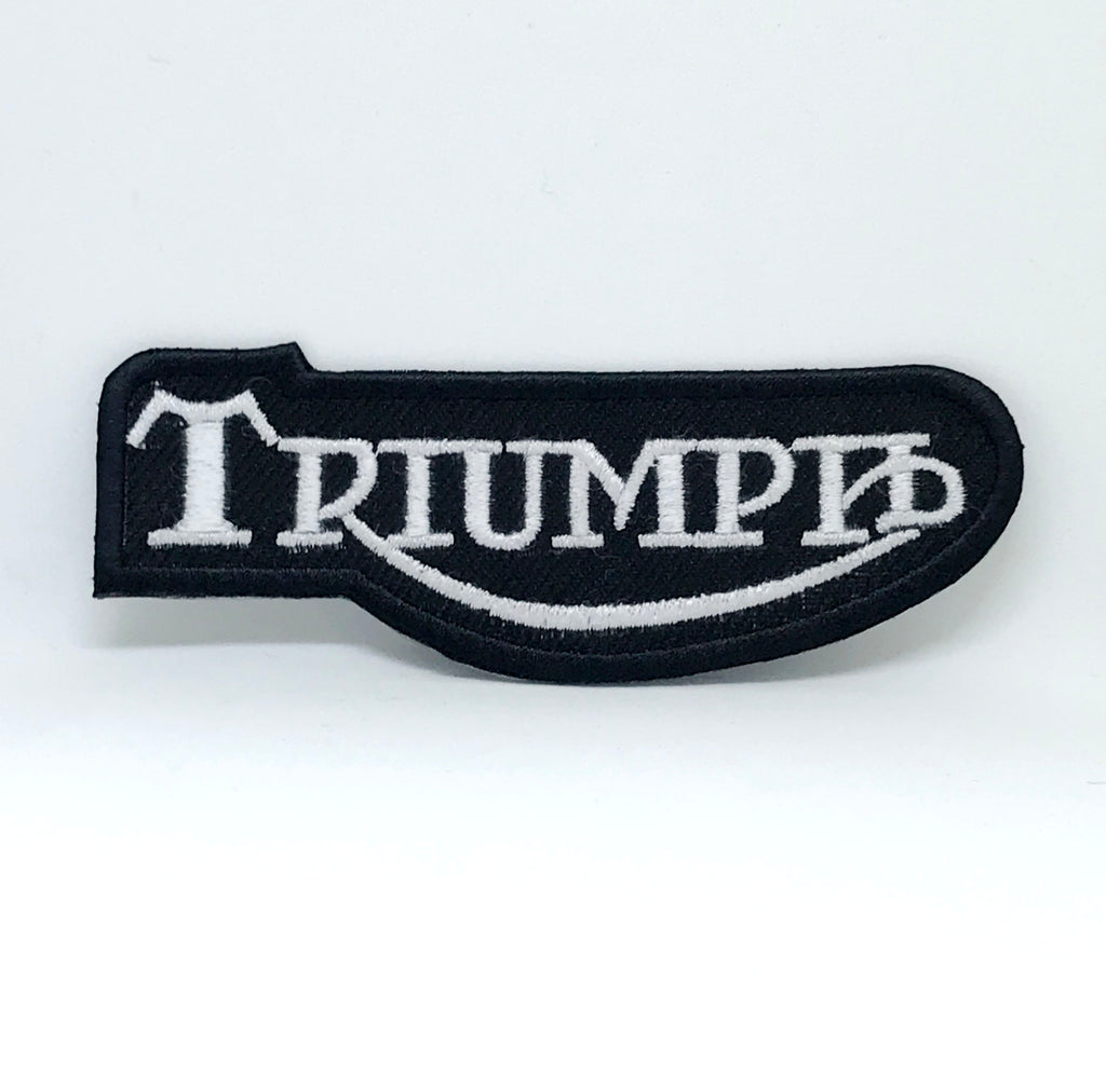 Triumph Iron Sew On Motorcycle Daytona Street Triple Bonneville Embroidered Patch