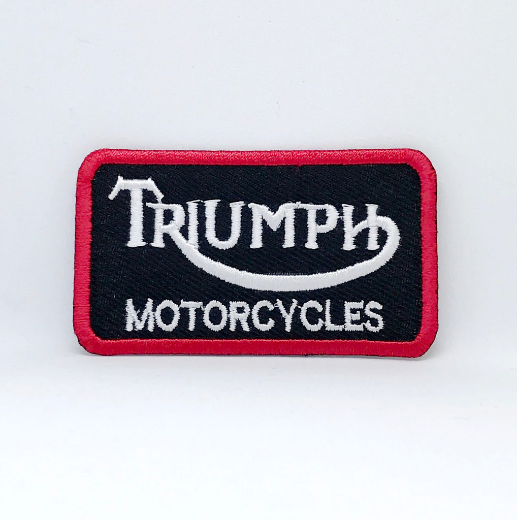 Triumph Motorcycles Biker Rocker Iron Sew On EMBROIDERED Patch