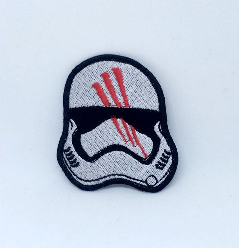 Star Wars Finn Helmet Iron on Sew on Embroidered Patch