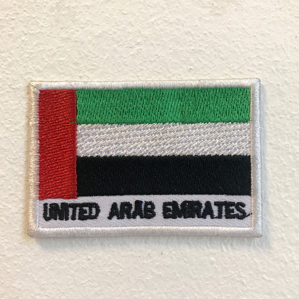 United Arab Emirates Flag Iron on Sew on Embroidered Patch
