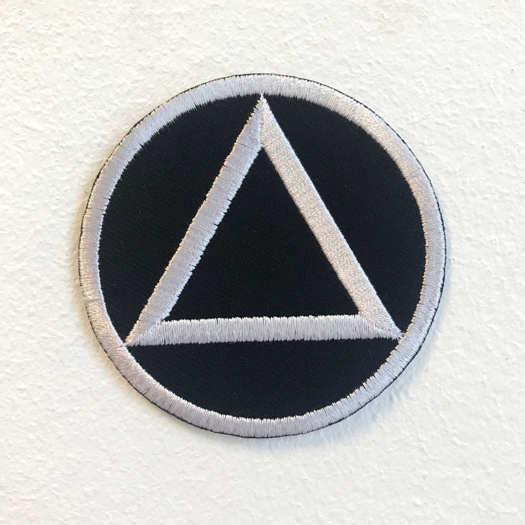 Sobriety Triangle Circle Badge Iron on Sew on Embroidered Patch