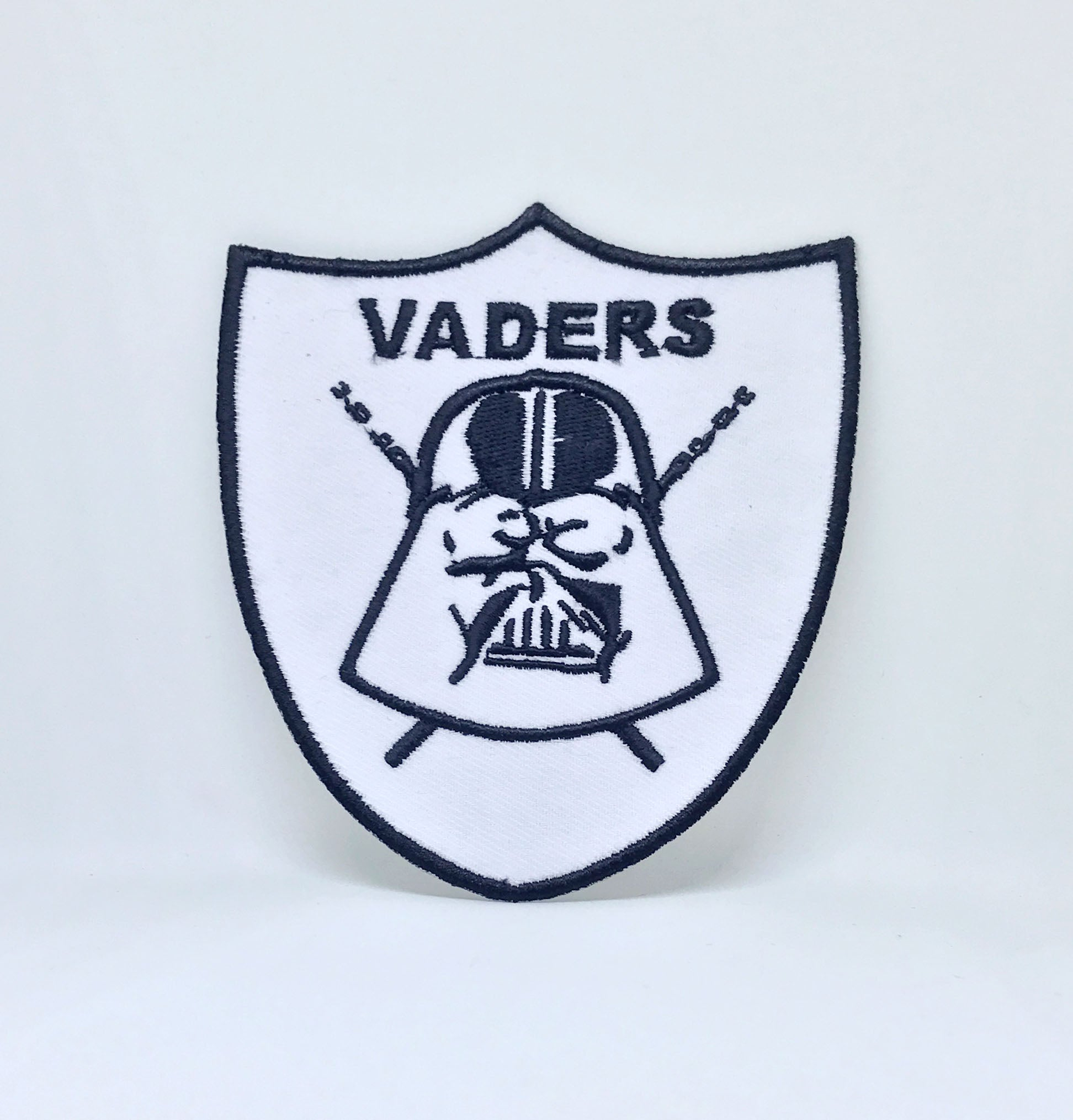 STAR WARS Movies Iron or Sew on Embroidered Patches - Vaders White