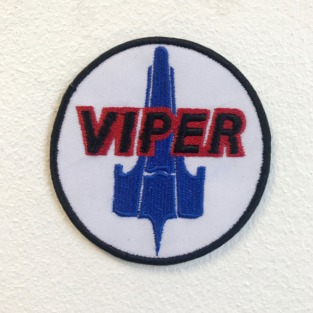 Battlestar Galactica Viper Pilot Badge Iron on Sew on Embroidered Patch