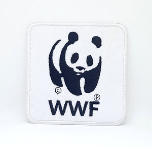 WWF PANDA LOGO Iron Sew on Embroidered Patch