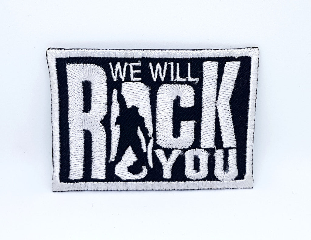 We Will Rock You Queen Classic Iron Sew on Embroidered patch