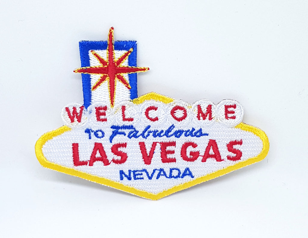 WELCOME to LAS VEGAS Embroidered iron on sew on patch landmark sign