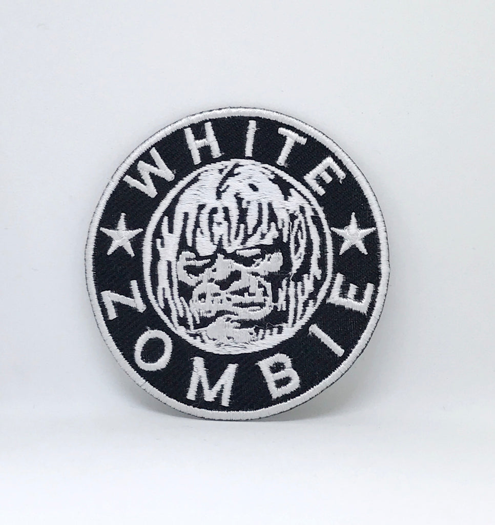 WHITE ZOMBIE Iron Sew On Embroidered Logo Patch