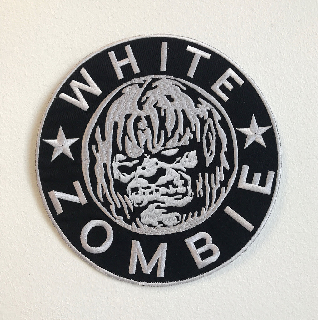White Zombie Large Biker Jacket Back Sew On Embroidered Patch