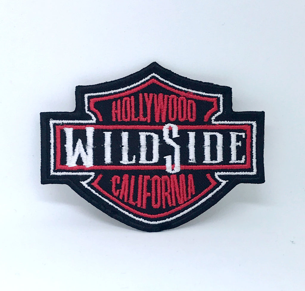 Wildside Hollywood California Badge Iron on Sew on Embroidered Patch