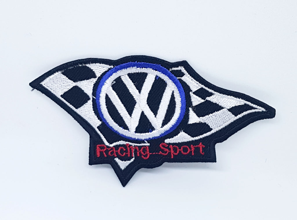 MOTORSPORTS RACING CAR Volkswagen Iron on Patch Applique embroidered