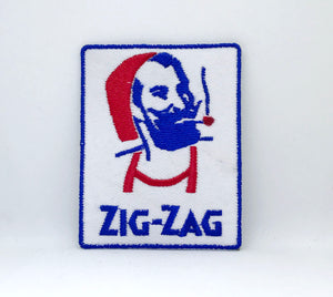 ZIG-ZAG MAN Iron Sew on Embroidered Patch Logo UK Seller