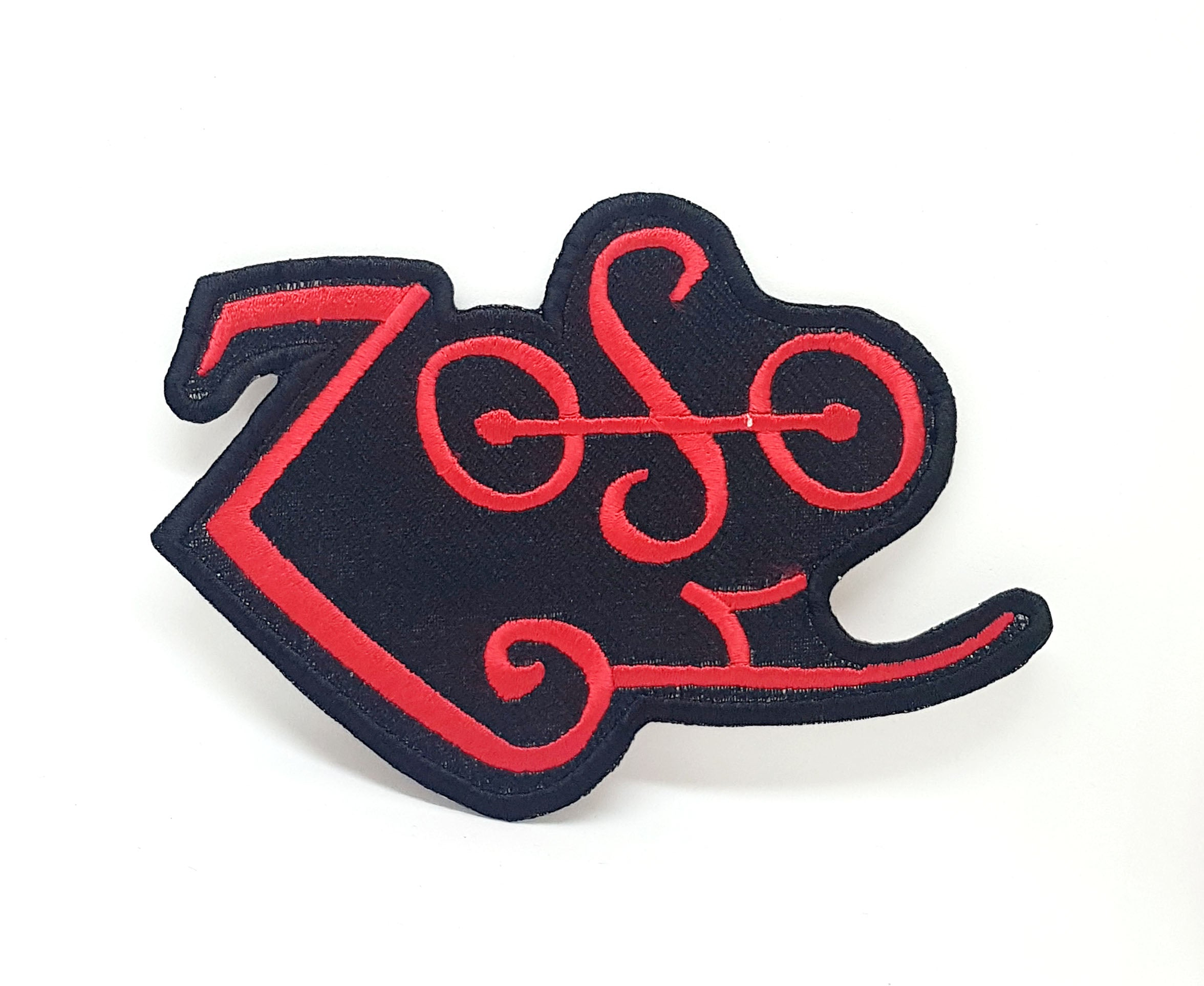 ZOSO Led Zeppelin Red T Shirt Iron Sew On Embroidered Patch