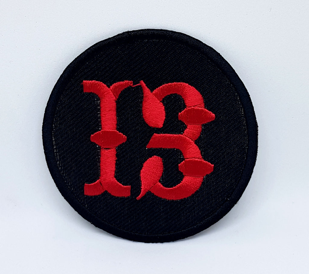 Lucky 13, 8 Ball Vintage Motorcycle Biker Jacket Iron Sew on Patch