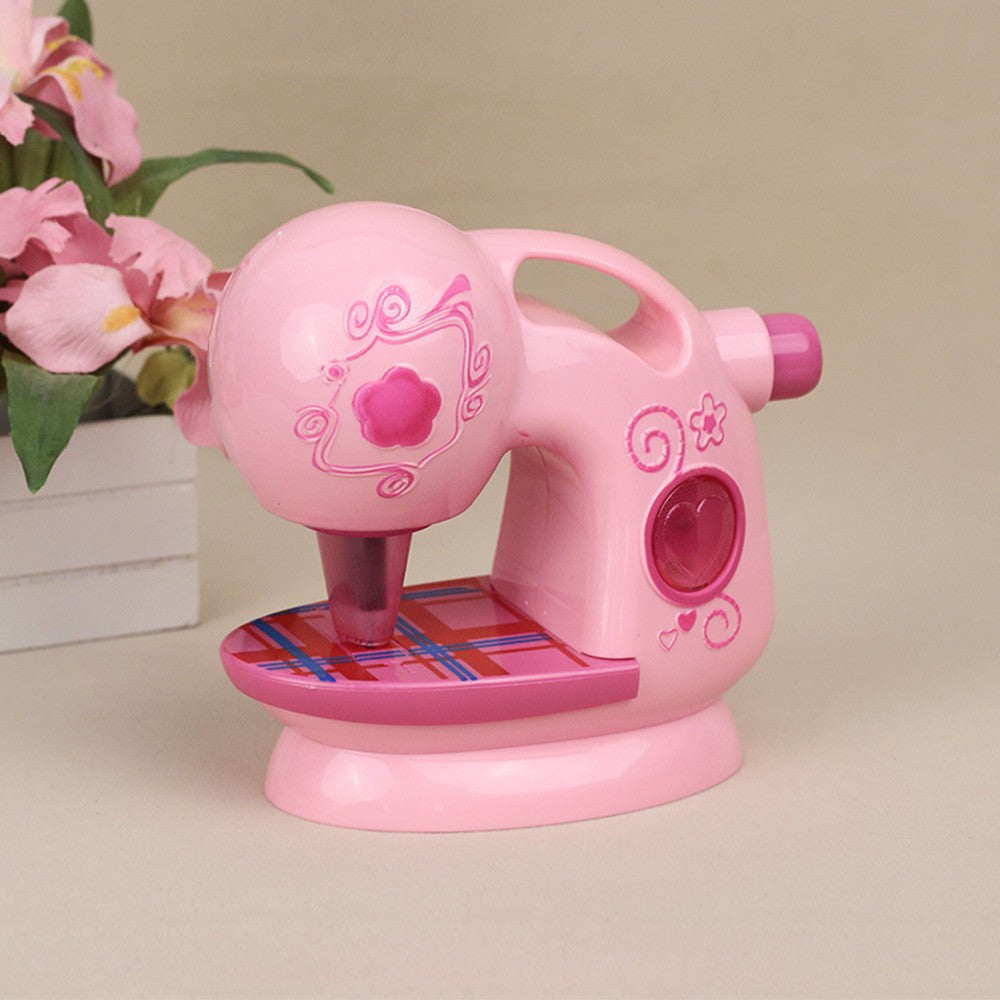 Electric Sewing Machine Toy with Light and Music Kids Pretend Play Sewing Toy for Kids - Patches-Badges