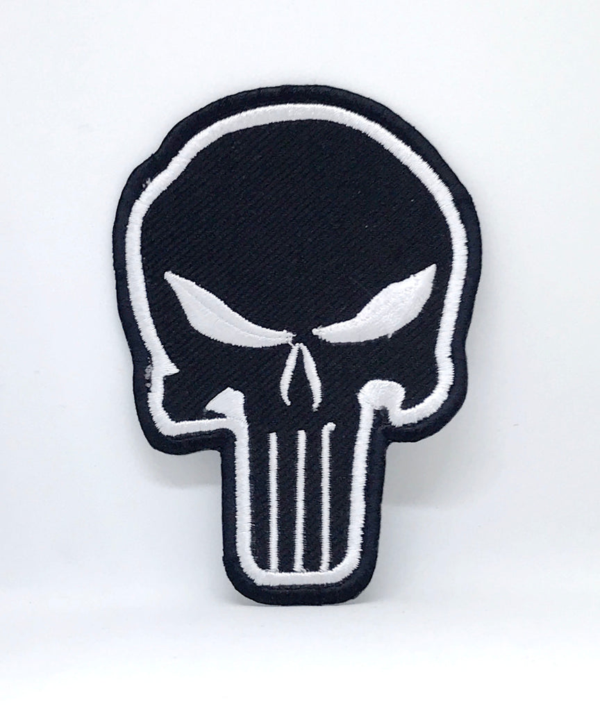 Comic Character Marvel Avengers Iron or Sew on Embroidered Patches - The Punisher Black