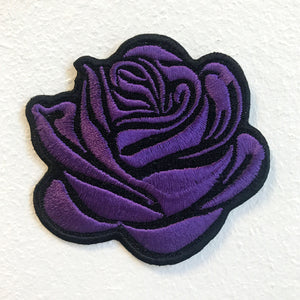Lovely Purple Rose Lady Clothing Jacket Shirt Iron on Sew on Embroidered Patch