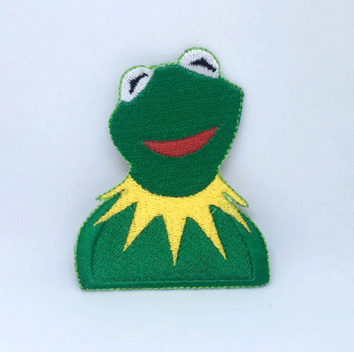 Kermit The Frog Muppets Show Character Iron on Sew on Embroidered Patch - Patches-Badges
