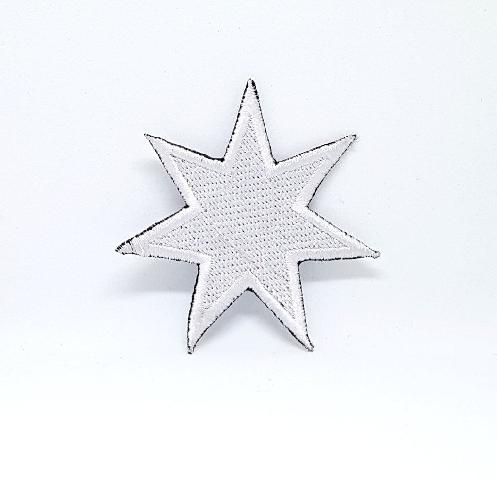 Cool Star White Iron 0r Sew on Embroidered Patch