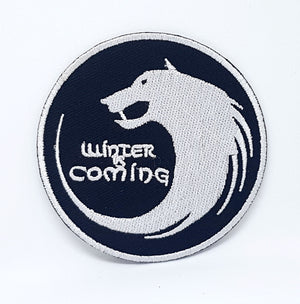 Game of Thrones Houses Collection Iron on Sew on Embroidered Patches - Winter is coming